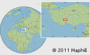 Savanna Style Location Map of Burdur