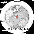Outline Map of Isparta, rectangular outline