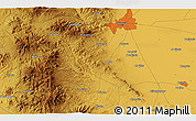 """Physical 3D Map of the area around 37°42'7""""N,32°22'30""""E"""