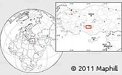 Blank Location Map of Konya