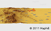 """Physical Panoramic Map of the area around 37°42'7""""N,32°22'30""""E"""