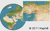 Satellite Location Map of Kahramanmaraş