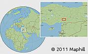 Savanna Style Location Map of Kahramanmaraş