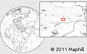 Blank Location Map of Adıyaman