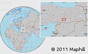 Gray Location Map of Adıyaman