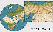 Satellite Location Map of Adıyaman