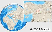 Shaded Relief Location Map of Adıyaman