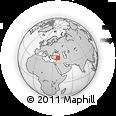 Outline Map of Adıyaman, rectangular outline