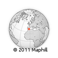 """Outline Map of the Area around 37° 42' 7"""" N, 3° 19' 30"""" W, rectangular outline"""