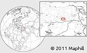 Blank Location Map of Diyarbakır