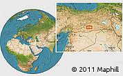 Satellite Location Map of Diyarbakır