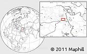 Blank Location Map of Hakkari