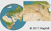 Satellite Location Map of Hakkari