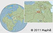 Savanna Style Location Map of Hakkari, hill shading