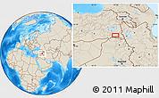 Shaded Relief Location Map of Hakkari
