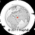 Outline Map of Hakkari, rectangular outline