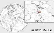 Blank Location Map of Orūmīyeh