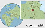 Savanna Style Location Map of Orūmīyeh