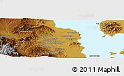 Physical Panoramic Map of Orūmīyeh