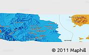 Political Panoramic Map of Orūmīyeh