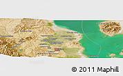 Satellite Panoramic Map of Orūmīyeh