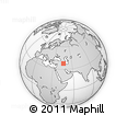 Outline Map of Āz̄ar Shahr, rectangular outline