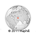 Outline Map of Yaglyolum, rectangular outline