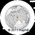 Outline Map of Bāghcheh Kūh, rectangular outline