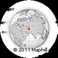 Outline Map of Ahal, rectangular outline