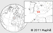 Blank Location Map of Córdoba