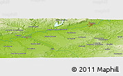 "Physical Panoramic Map of the area around 37° 42' 7"" N, 5° 1' 30"" W"