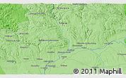 Political 3D Map of Carmona