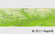 """Physical Panoramic Map of the area around 37°42'7""""N,5°52'30""""W"""
