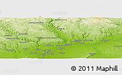 Physical Panoramic Map of Carmona