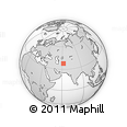 Outline Map of Mary, rectangular outline