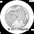 Outline Map of Khadzhikaraul, rectangular outline