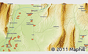 Physical 3D Map of Qŭrghonteppa