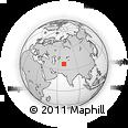 Outline Map of Tugalan, rectangular outline