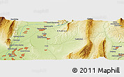 Physical Panoramic Map of Qŭrghonteppa