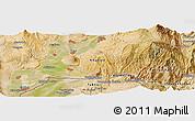 Satellite Panoramic Map of Farkhor