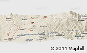 Shaded Relief Panoramic Map of Farkhor