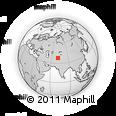 Outline Map of Khorog, rectangular outline