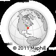 Outline Map of 10561 Greenlands Cir, rectangular outline