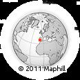 Outline Map of São Martinho Das Amoreiras, rectangular outline