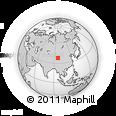 Outline Map of Juhongtu, rectangular outline