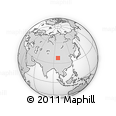 """Outline Map of the Area around 37° 42' 7"""" N, 96° 58' 29"""" E, rectangular outline"""