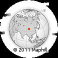 Outline Map of Jun Ul, rectangular outline