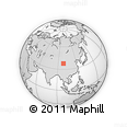 """Outline Map of the Area around 37° 42' 7"""" N, 98° 40' 30"""" E, rectangular outline"""