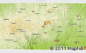 """Physical 3D Map of the area around 37°23'54""""S,144°34'29""""E"""
