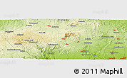 """Physical Panoramic Map of the area around 37°23'54""""S,144°34'29""""E"""